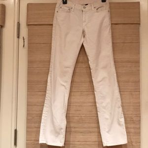 The Lucky Brand Dungarees white jeans sz2/26